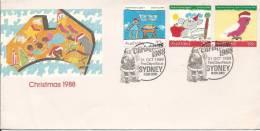 1988 Christmas  Set Of 3 Special Postmark FDI 31 Oct 1988 Sydney NSW  2000  Unaddressed Envelope - FDC