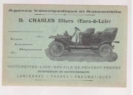 Voiturette Lion Des Fils Peugeot - D.Challes à  Illiers Eure-et-loire Agence Velocipedique Et Automobile - Automobilismo