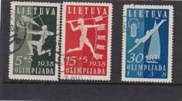 Lithuania 1938 Olympic Games Used - Lituania