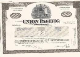 Union Pacific Corporation -olijfgroen - Chemin De Fer & Tramway