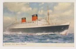 Cunard R.S.M. Queen Elizabeth - Steamers