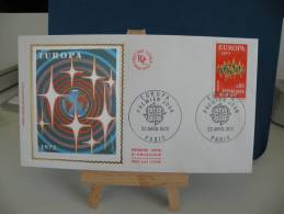 FDC - Europa CEPT  - 67 Strasbourg - 22.4.1972 Coté 1,50 € (2013) - 1972
