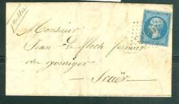 LETRE AFFRANCHIE Par Yvert N°22 Pour Scaer ( Dpt 29 ) Arrivée Cahet Facteur Boitier En 1863  AA14303 - Postmark Collection (Covers)