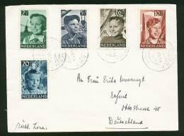 A1308) Niederlande Netherlands Brief 1951 Mit Mi.575-579 Nach Erfurt - 1949-1980 (Juliana)