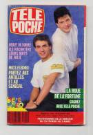 Télé Poche 1202 20/2/1989 Debut De Soirée, Evelyne Bouix Sommaire Dans L'annonce - Television