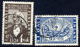 FINLAND 1931 Centenary Of Literary Society Used.  Michel 162-63 - Finland