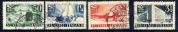 FINLAND 1931 300th Anniversary Of Finnish Post Used.  Michel 213-16 - Used Stamps