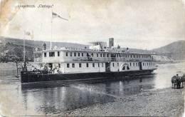 Russischer Raddampfer Auf Fluß, Anlegestelle (Russland, Unbekannter Ort), Nicht Gelaufen Um 1900 - Russland
