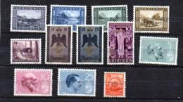 Paysages, Célébrités,  Entre 193 Et 369**,(313-314*) Cote 50 €, - Liechtenstein