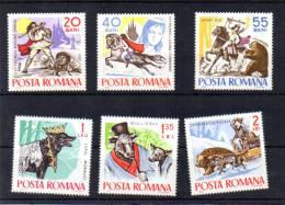 Roumanie 1965, Fables Et Contes Folkloriques, Yv. 2132 / 3137**, - Contes, Fables & Légendes