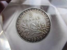 FRANCE - 2 FRANCS SEMEUSE - 1909- SUP VOIR PHOTOS - I. 2 Francs