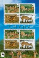 GHANA,2012,WWF,REEDBUCK, SHEETLET OF 2 SETS, MNH - W.W.F.