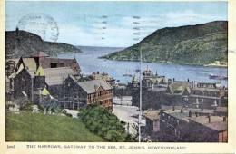 ST. JOHNS (Neufundland, Newfoundland, Insel In Kanada), The Narrows, Gateway To The Sea, Gelaufen 1954, Sehr Selten - Sonstige