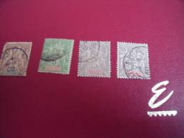 Timbres *  Guadeloupe N° 28-40-42 Y.T. - Guadeloupe (1884-1947)