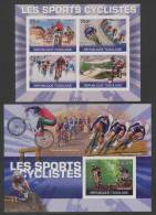 Togo (1972)  Yv. 2268/71 + Bf. 420 (IMPERF. - ND)  /  Cycling - Cyclisme - Radfahren - Velos - Mountain Bike