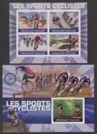 Togo (1972)  Yv. 2268/71 + Bf. 420 (IMPERF. - ND)  /  Cycling - Cyclisme - Radfahren - Velos
