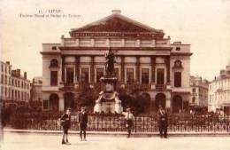 Liège           Théâtre Royal Et Statue De Grétry    . - Liège