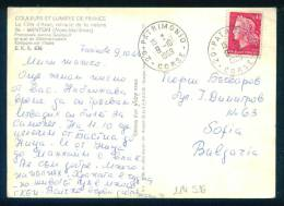 114516  MENTON  , PLAGE BUS 1969  - Marianne Of Cheffer - France Frankreich Francia POSTCARD - 1967-70 Marianne De Cheffer
