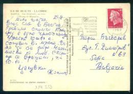 114513  BASTIA  , FLAMME MUSEE D'ETHNOGRAPHIE 1969  - Marianne Of Cheffer - France Frankreich Francia POSTCARD - 1967-70 Marianne De Cheffer