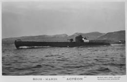 Sous-marin ACTEON (Marine Nationale) - Carte Photo éd. Marius Bar - Ship/bateau/schiff - Guerre