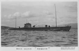 Sous-marin REQUIN (Marine Nationale) - Carte Photo éd. Marius Bar - Ship/bateau/schiff - Guerre