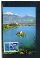 Yugoslawien / Yugoslavia / Yougoslavie Bled Maximumkarte - Churches & Cathedrals