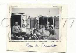 Pornichet (44) : Photo Des Tentes Coupes Vent En 1935 (animée) PHOTOGRAPHIE RARE. - Other