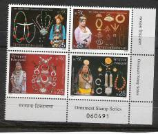 NEPAL 2005,  Nepalese Ornaments Of Different Tribes,   Bottom Right Block Of 4  Of Sheetlet,  MNH(**) - Nepal