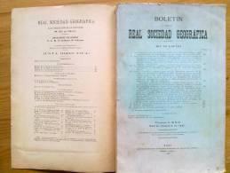 LIBRO BOLETIN DE LA REAL SOCIEDAD GEOGRAFICA ,CON MAPAS,PLANOS DESPLEGABLES ,AÑO 1927  4º TRIMESTRE. - Libros, Revistas, Cómics