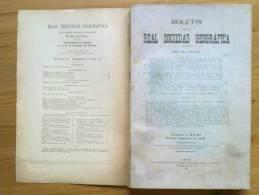 LIBRO BOLETIN DE LA REAL SOCIEDAD GEOGRAFICA ,CON MAPAS,PLANOS DESPLEGABLES ,AÑO 1928  1º TRIMESTRE. - Libros Antiguos Y De Colección