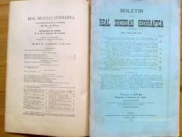 LIBRO BOLETIN DE LA REAL SOCIEDAD GEOGRAFICA ,CON MAPAS,PLANOS DESPLEGABLES ,AÑO 1928  2º TRIMESTRE. - Libros Antiguos Y De Colección
