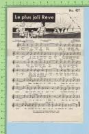 Publicité ( Machine à Coudre Stella Concour CJMS Montréal Quebec + Chanson Le Plus Joli Reve ) Publicity + Song - Partitions Musicales Anciennes