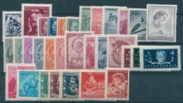 Yugoslavia Republic, 9 Complete Sets And 3  Single Stamp-sets, Mint Hinged - 1945-1992 Socialistische Federale Republiek Joegoslavië