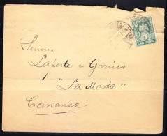 R)1914 COMERCAL COVER.CANANEA SON.MEXICO. LA MODA. SRES.LAPORTE& GARNIS.TRANSITORIO GREEN EAGLE 5 CTS.,STAMP. - Mexico