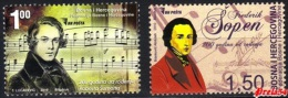 Bosnia Sarajevo - Composer Scumann&Chopin 2010 Set MNH - Bosnia And Herzegovina