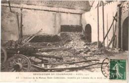 CPA Ay, Révolution En Champagne, Intérieur De La Maison Deutz-Geldermann, Incendiée Par L´émeute Du 12 Avril 1912 - Ay En Champagne
