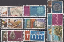 Yugoslavia Republic, Nine Sets EUROPA - CEPT, Mint Hinged - 1945-1992 Socialist Federal Republic Of Yugoslavia