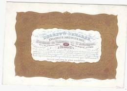 Carte Porcelaine Delbeuw-Demarée - Encadreur Doueur Sur Bois - Bruxelles - Format 15 X 9 Cm (NE) - Cartes Postales
