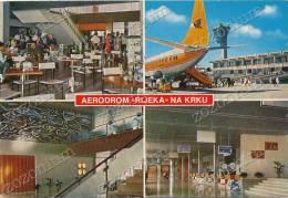 KRK  AIRPORT ´´RIJEKA´´,Croatia , Vintage Old Postcard - Aerodrome