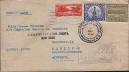 Guatemala-Registered Letter Circulated In 1938 To Berlin Embassy (Related) Romania-2/scans - Guatemala