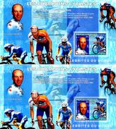 Congo 2006 Les Champions Cyclistes En Dentelé Et Non Dentelé - Ciclismo
