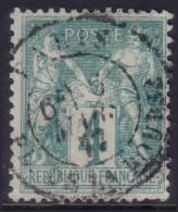 *PROMO* 4c Sage Vert Au Type I (N/B) Oblitéré TB (Y&T N° 63, Cote: 80€) - 1876-1878 Sage (Typ I)