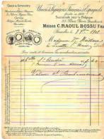 Bruxelles 1902 - C. Raoul Bossu - Union De Vignerons Français Et Espagnols - België