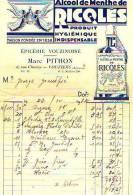 Vouziers 1932 - Alcool Ricqlès - Pithon - Frankrijk