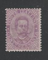 REGNO D´ ITALIA - 1889 Effigie Di Umberto I° - Valore Nuovo Stl Da 60 C. - In Buone Condizioni, Come Da Scansione. - Mint/hinged