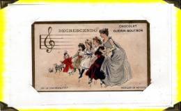 Chromos  ..  Musique  ..  Solfège  Decrescendo  .. Chocolat Guérin-boutron - Chromos