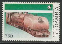 Gambia 1989 Mi 874 ** A 14A Class 2-6-6-2 Garratt Steam Loc., Rhodesia / Dampflokomotiven In Afrika - Treinen