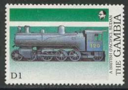 Gambia 1989 Mi 875 ** British-built Steam Loc. No. 120 (Pacific), Sudan / Dampflokomotiven In Afrika - Treinen