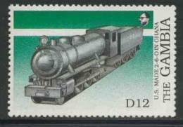 Gambia 1989 Mi 880 ** American-built Steam Loc. (US Made 2-6-0), Ghana / Dampflokomotiven In Afrika - Treinen