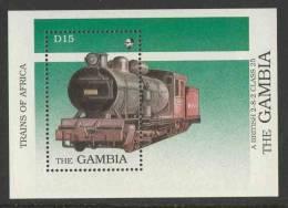 Gambia 1989 B67 - Mi 881 ** East African Railways Class 25 Steam Loc. No. 2904 / Dampflokomotiven In Afrika - Treinen